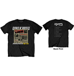 Guns N' Roses Unisex Tee: Lies Track List (Back Print)
