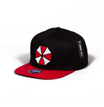 RESIDENT EVIL Umbrella Corp Snapback Baseball Cap, Unisex, Black/Red