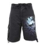 Crow Moon - Vintage Cargo Shorts Black (Plain)