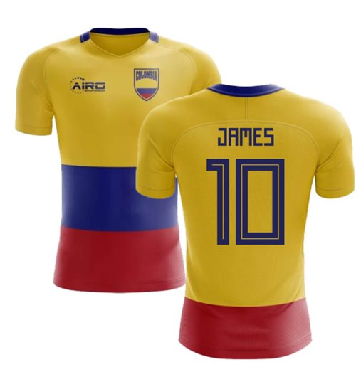 2018-2019 Colombia Flag Concept Football Shirt (James 10) - Kids