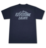 KEYSTONE LIGHT Beer Vintage Style Faded Logo T-Shirt