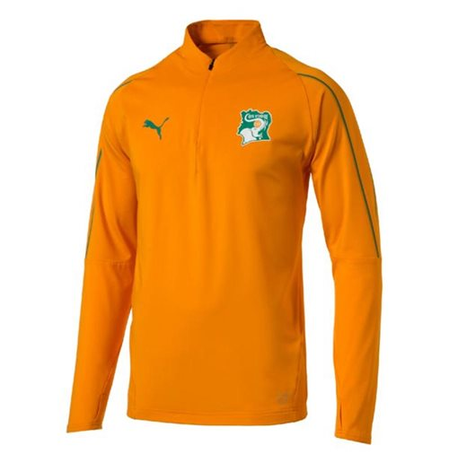 2018-2019 Ivory Coast Puma 1/4 Zip Training Top (Orange)
