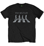 The Beatles Unisex Tee: Crossing (Diamante)