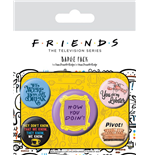 Friends Pin Badges 5-Pack Quotes
