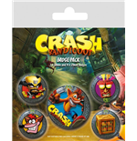 Crash Bandicoot Pin Badges 5-Pack Pop Out