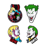 DC Comics Collectors Pins 4-Pack Joker & Harley Quinn