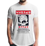 Rick And Morty - Alien Morty Wanted Poster - Unisex T-shirt White