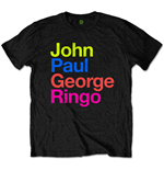 The Beatles Unisex Tee: JPG&R Pepper Suit Colours