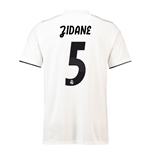 2018-19 Real Madrid Home Football Shirt (Zidane 5)
