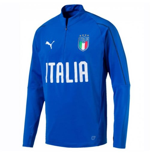 2018-2019 Italy Puma Quarter Zip Training Top (Blue)