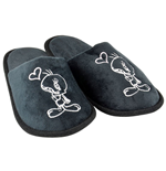 Looney Tunes Slippers Tweety Black Heart