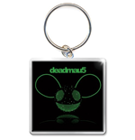 Deadmau5 Standard Keychain: Green Head