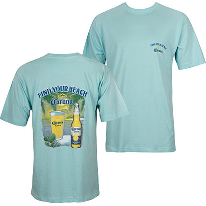 Corona Find Your Beach Blue Tee Shirt