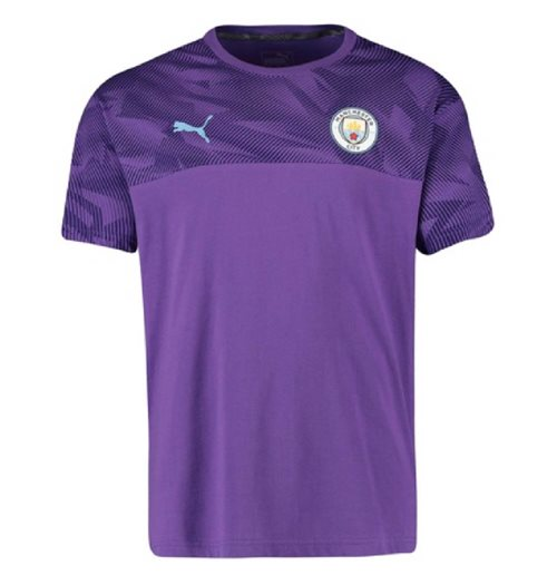 2019-2020 Manchester City Puma Casuals Tee (Purple)