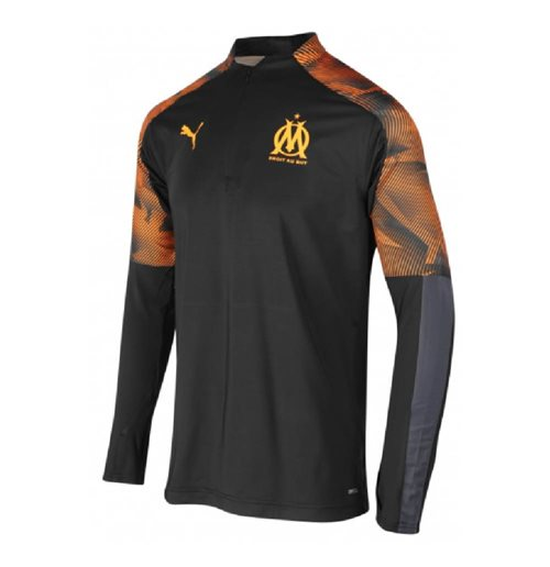 2019-2020 Marseille Quarter Zip Training Top (Black)