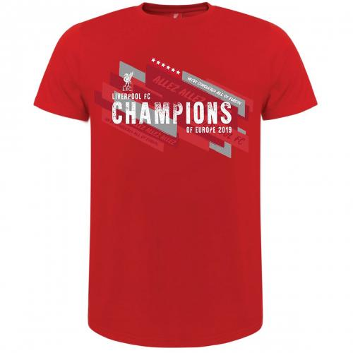 Liverpool F.C. Champions Of Europe T Shirt Mens M