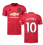 2019-2020 Man Utd Adidas Home Football Shirt (ROONEY 10)