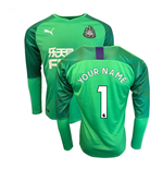 2019-2020 Newcastle Home Goalkeeper Shirt (Green) (Your Name)