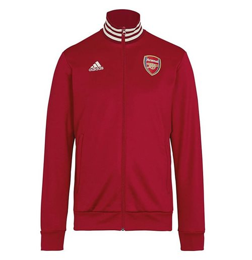 2019-2020 Arsenal Adidas 3S Track Top (Maroon)