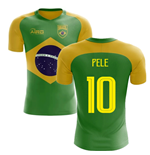 2018-2019 Brazil Flag Concept Football Shirt (Pele 10)