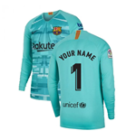 2019-2020 Barcelona Home Nike Goalkeeper Shirt (Hyper Jade) - Kids (Your Name)