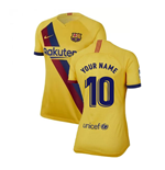 2019-2020 Barcelona Away Nike Ladies Shirt (Your Name)