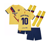 2019-2020 Barcelona Away Nike Little Boys Mini Kit (Your Name)