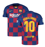2019-2020 Barcelona Home Nike Football Shirt (RONALDINHO 10)