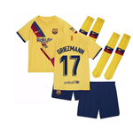 2019-2020 Barcelona Away Nike Little Boys Mini Kit (Griezmann 17)