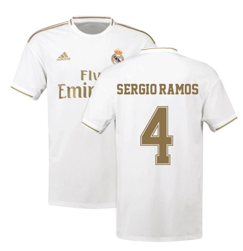 2019-2020 Real Madrid Adidas Home Football Shirt (SERGIO RAMOS 4)