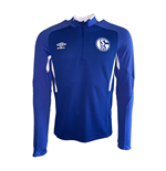 2019-2020 Schalke Umbro Half Zip Training Top (Blue)