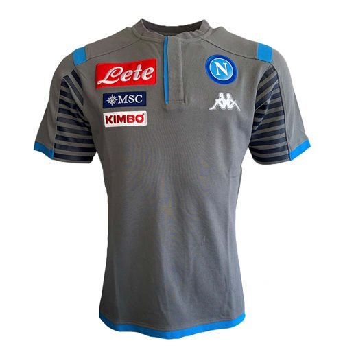 2019-2020 Napoli Cotton Polo Shirt (Grey)