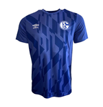 2019-2020 Schalke Umbro Warm Up Shirt (Blue)