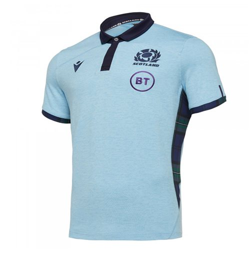 2019-2020 Scotland Alternate SS Cotton Rugby Shirt