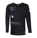 MICROSOFT Xbox Ready to Play Long Sleeved Shirt, Male, Extra Large, Black