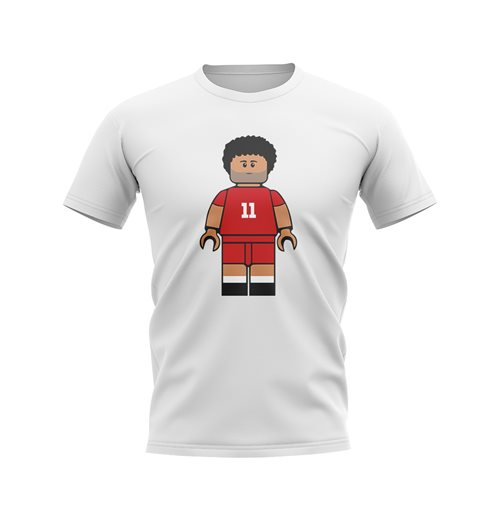 Mo Salah Liverpool Brick Footballer T-Shirt (White)