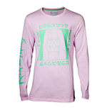 RICK AND MORTY Japan Pickle Long Sleeve Shirt, Male, Pink