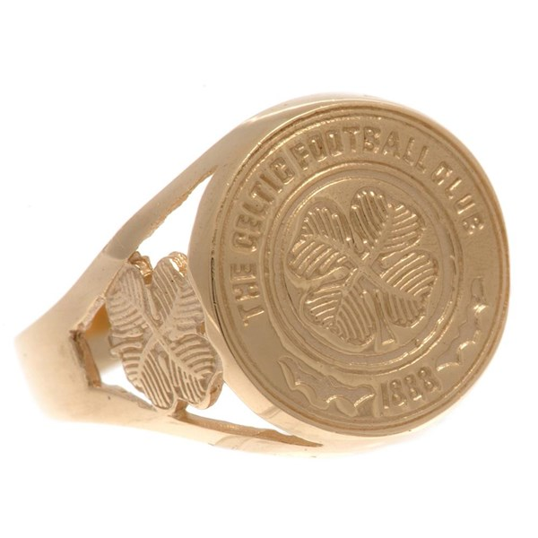 Celtic F.C. 9ct Gold Crest Ring Small
