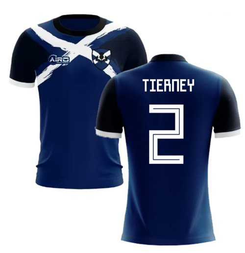 2019-2020 Scotland Flag Concept Football Shirt (Tierney 2)