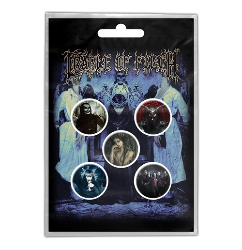 Cradle Of Filth Button Badge Pack: Cryptoriana (Retail Pack)