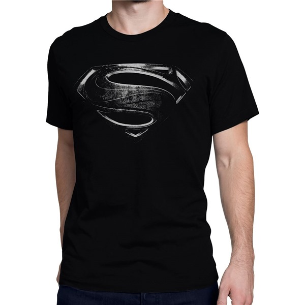 Superman Silver Movie Symbol Men's T-Shirt