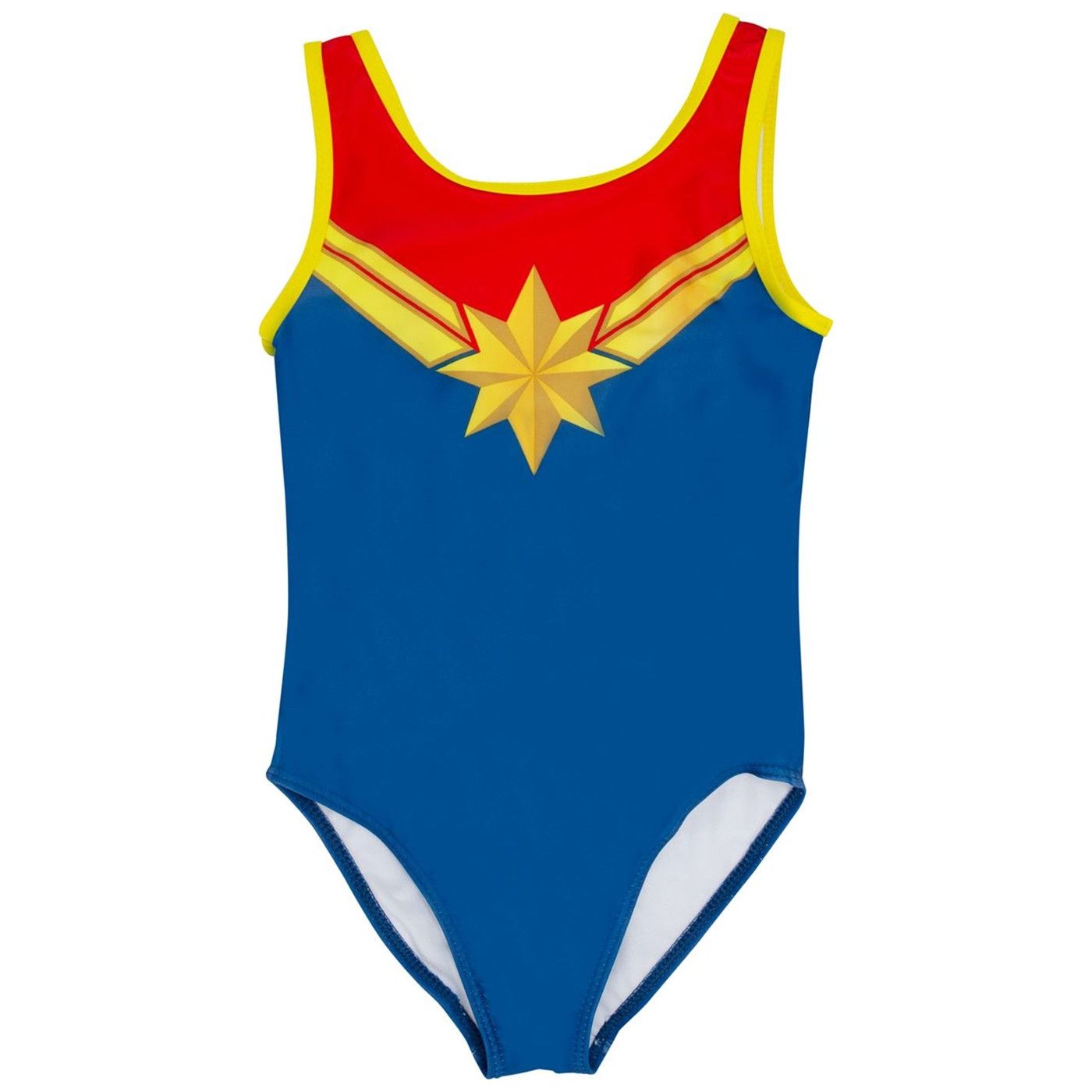 Captain Marvel Costume Juvy One Piece Swimsuit