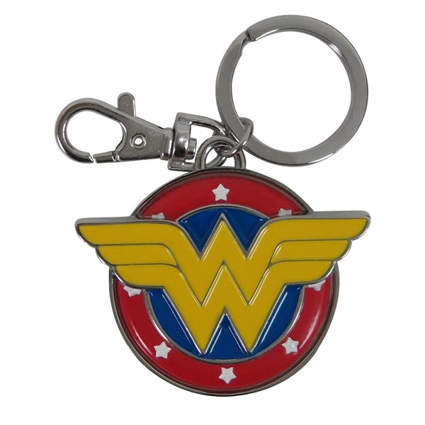 Wonder Woman Symbol Colored Metal Keychain