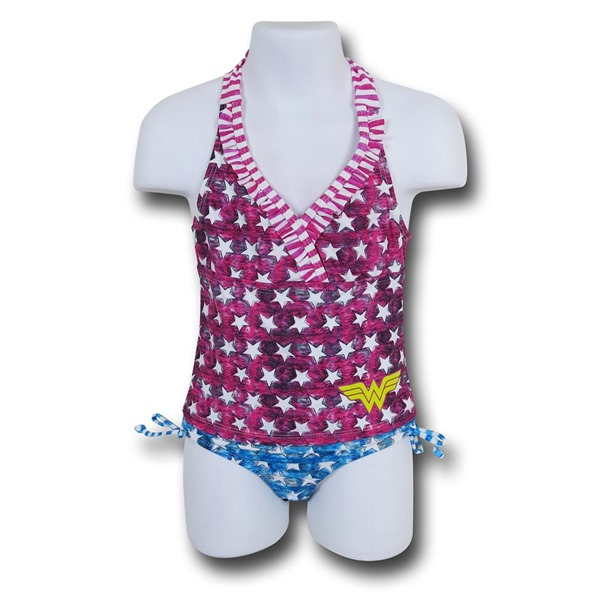 Wonder Woman Patriot Halter Kids Tankini