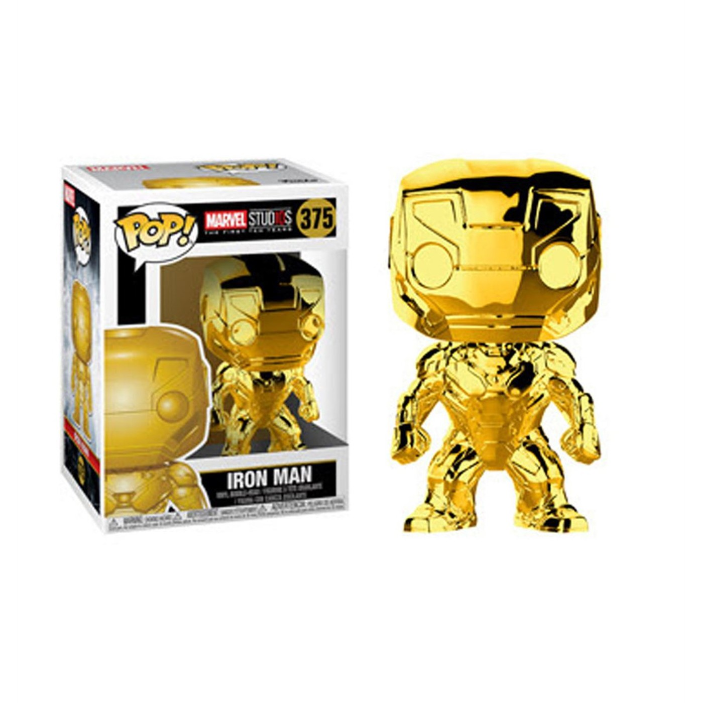 Marvel Studios 10th Anniv Iron Man Gold Chrome Funko Pop Bobble Head