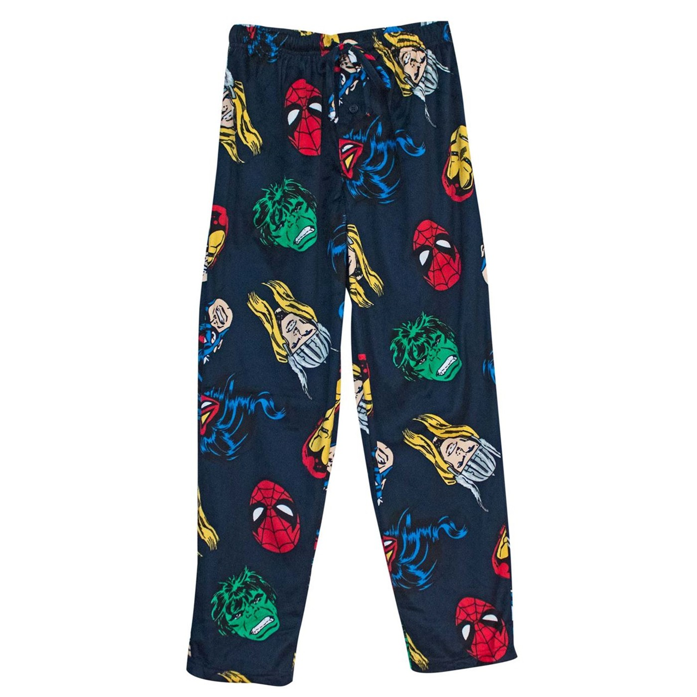 Avengers Classic Heads Up Men's Fleece Pajama Pants