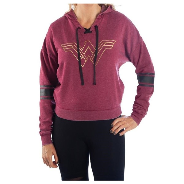 Wonder Woman Burnout Hooded Pullover