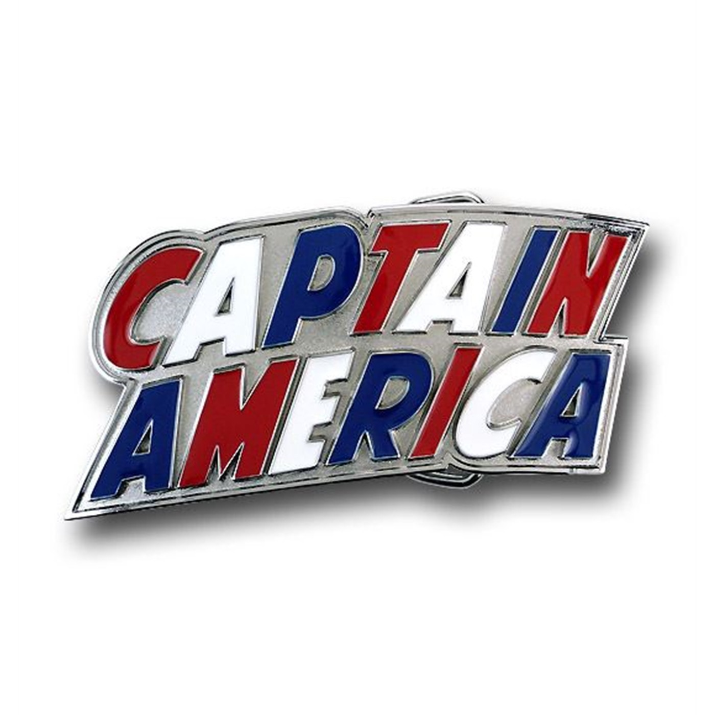 Captain America Red White  and  Blue Logo Belt Buckle
