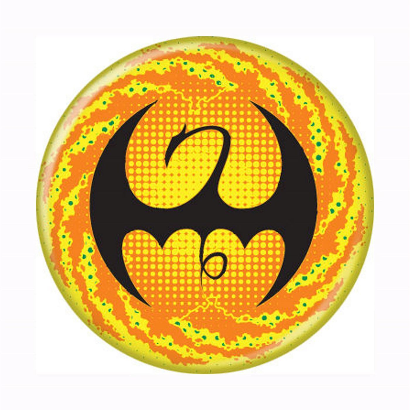 Iron Fist Symbol Galaxy Button