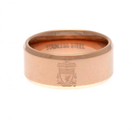 Liverpool F.C. Rose Gold Plated Ring Medium